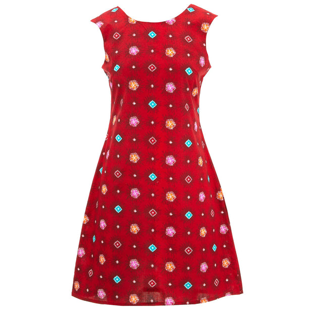 Nifty Shifty Dress - Red Explosion