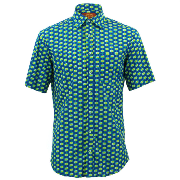 Regular Fit Short Sleeve Shirt - Square Chain