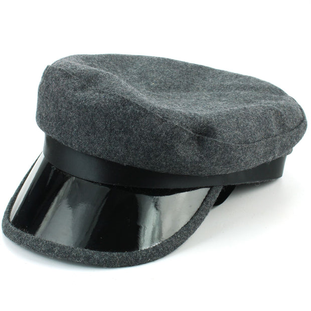 Ribbon Captain's Breton Cap - Grey