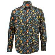 Tailored Fit Long Sleeve Shirt - Colourful elephants