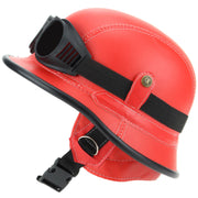 Combat Novelty Festival Helmet with Goggles - Red