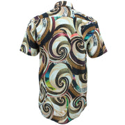 Regular Fit Short Sleeve Shirt - Psychedelic Sea Shells & Sand