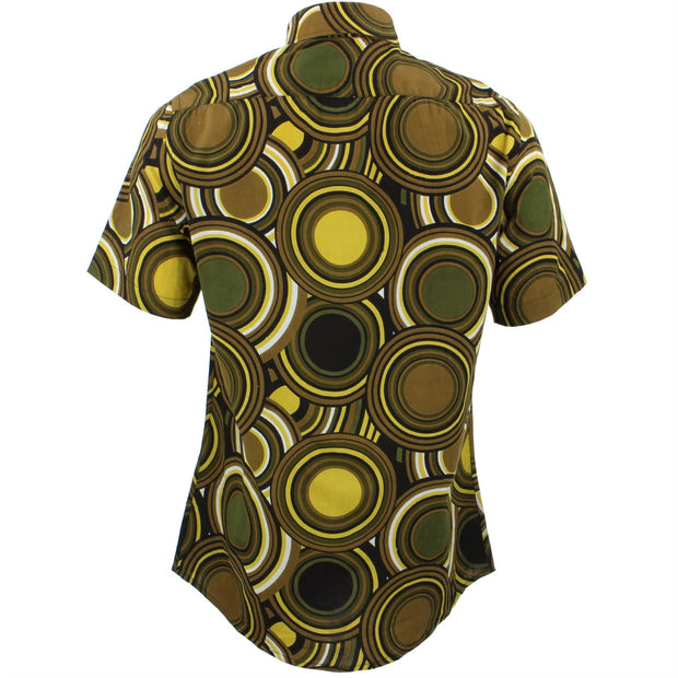 Tailored Fit Short Sleeve Shirt - Retro Circles