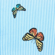 Slim Fit Short Sleeve Shirt - Butterfly Stripes