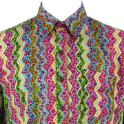 Regular Fit Short Sleeve Shirt - Multicoloured Zig Zags
