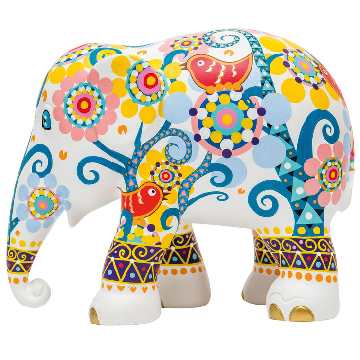 Limited Edition Replica Elephant - Mosaic with Birds
