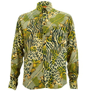 Regular Fit Long Sleeve Shirt - Jungle Menagerie - Gold