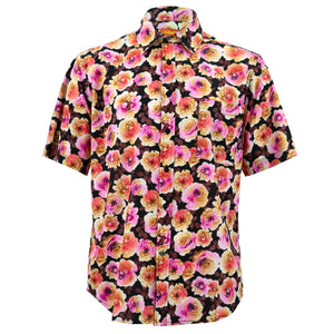 Regular Fit Short Sleeve Shirt - Blooming - Pink