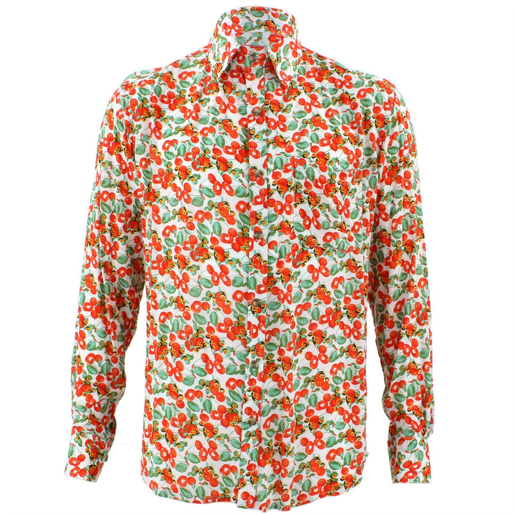 Tailored Fit Long Sleeve Shirt - Orange Berries