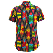 Tailored Fit Short Sleeve Shirt - Aztec Polka Dots