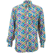 Regular Fit Long Sleeve Shirt - Squares