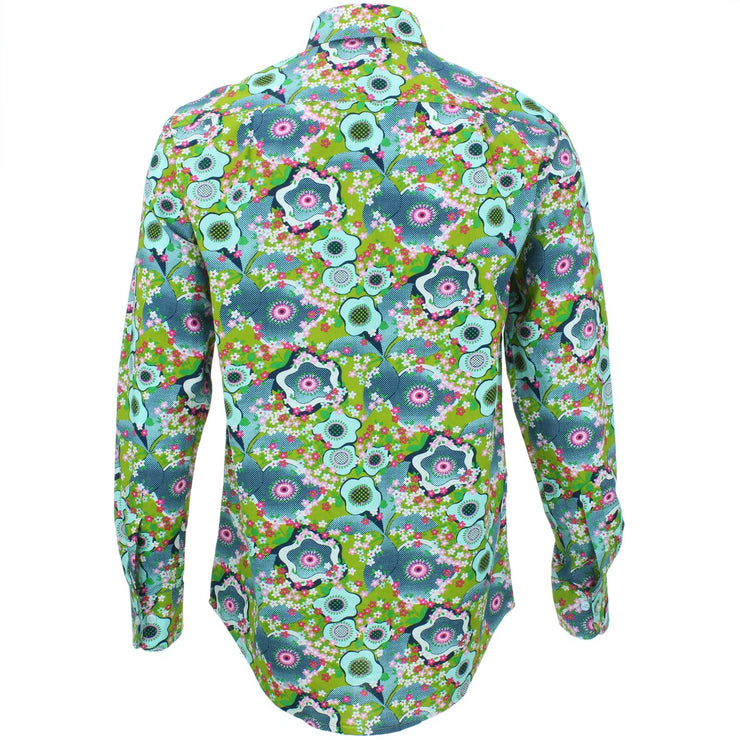 Regular Fit Long Sleeve Shirt - Floral Oyster