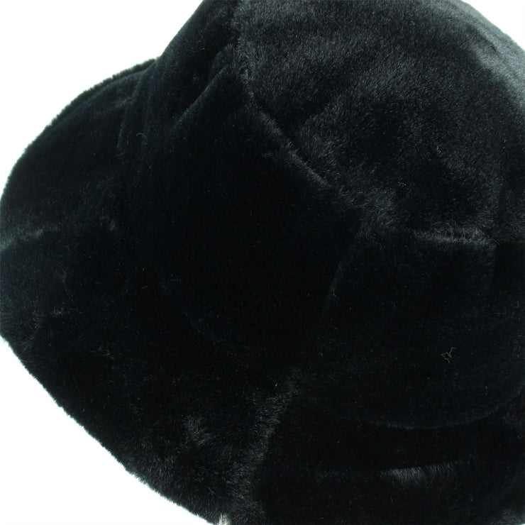 LoudElephant Soft Faux Fur Ladies Hat - Black