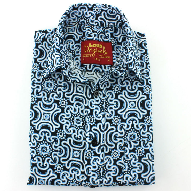 Regular Fit Short Sleeve Shirt - Tribal Fret