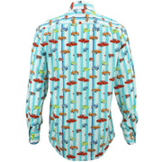 Regular Fit Long Sleeve Shirt - Cars & Stripes