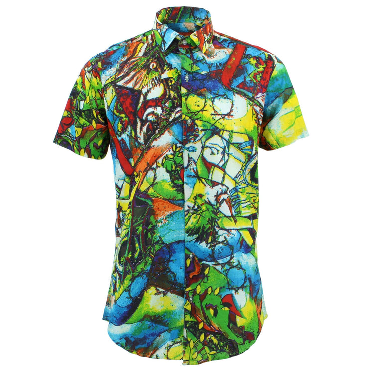 Tailored Fit Short Sleeve Shirt - Coloured Glass