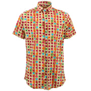 Tailored Fit Short Sleeve Shirt - Multi Dotty
