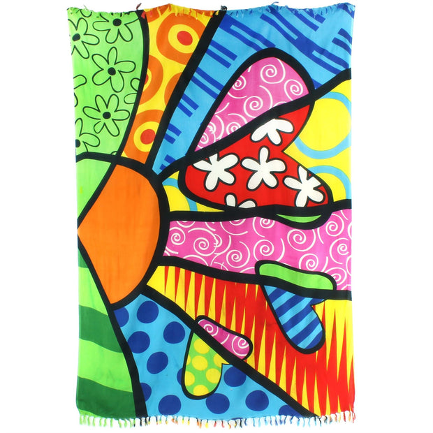 Viscose Rayon Sarong - Bright Beach Towel 1