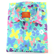 Tailored Fit Short Sleeve Shirt - Abstract Butterflies