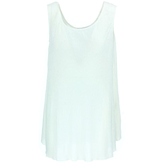 Sleeveless Knitted Top - White