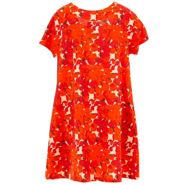 Floaty Pocket Pleat Dress - Vibrant Orange