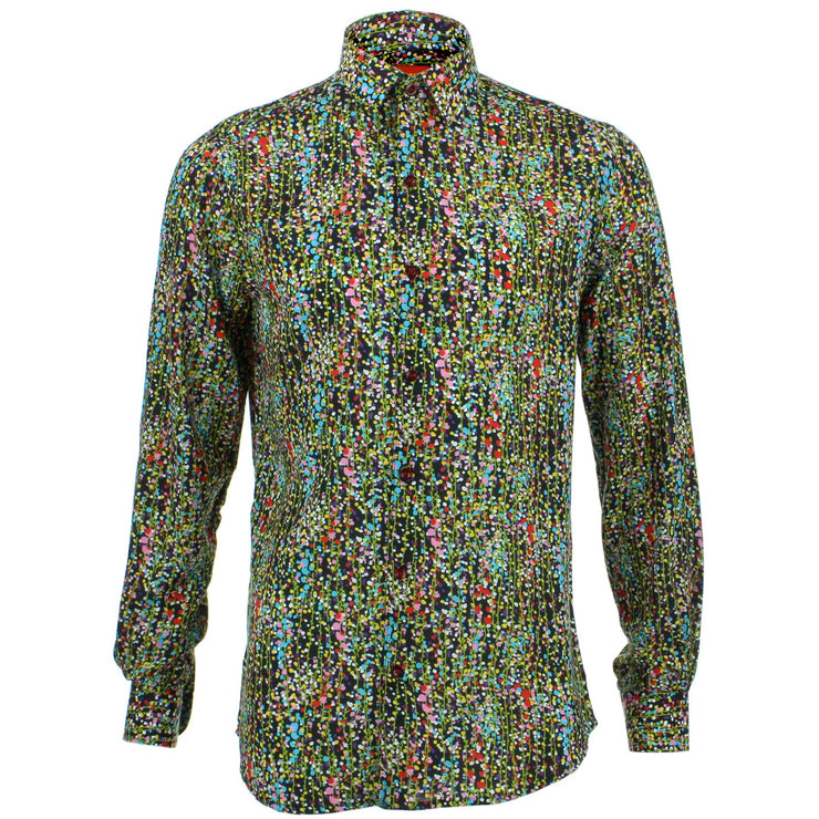 Tailored Fit Long Sleeve Shirt - Multi Ditzy