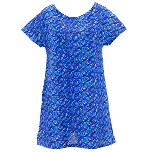 Perfect Shift Pocket Dress - Blue Maze