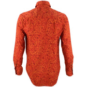 Regular Fit Long Sleeve Shirt - Red Leaves