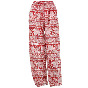 Loose Ali Baba Harem Elephant Trousers Pants - Red