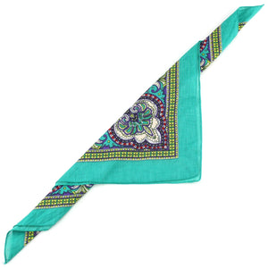 Bandana Face Cover Mask - Paisley Green