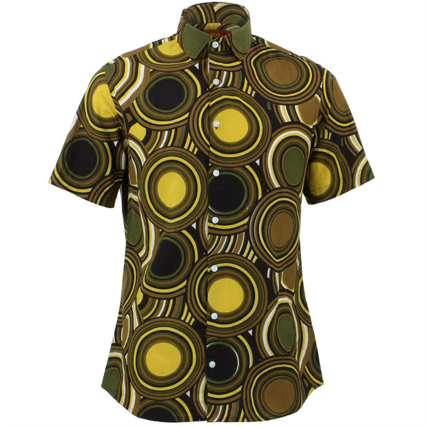 Regular Fit Short Sleeve Shirt - Retro Circles
