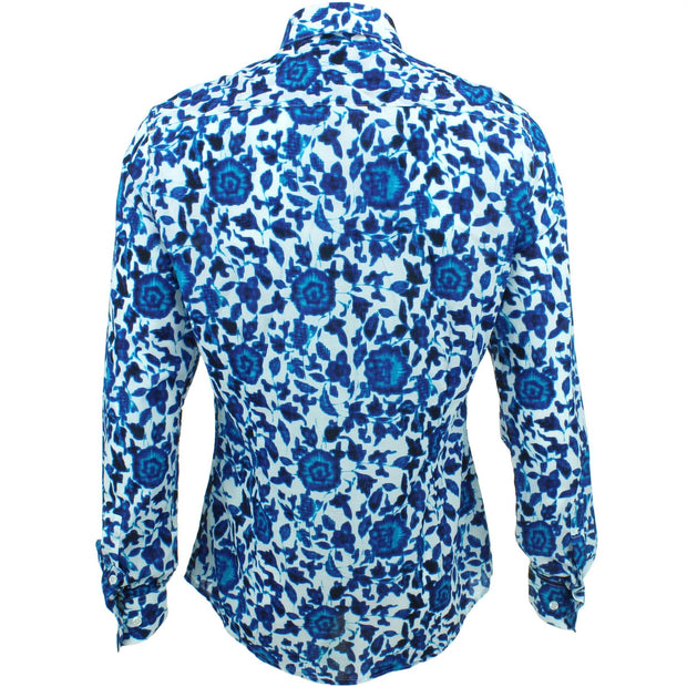 Slim Fit Long Sleeve Shirt - Floral Ikat