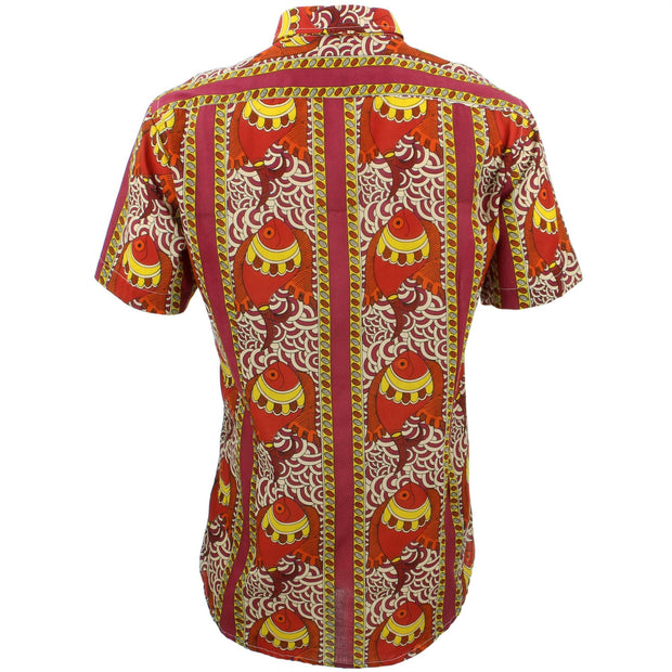 Tailored Fit Short Sleeve Shirt - Fire Fish