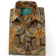 Regular Fit Short Sleeve Shirt - Oriental Paisley