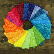 Cotton Batik Pre Cut Fabric Bundles - Fat Quarter - Rainbow
