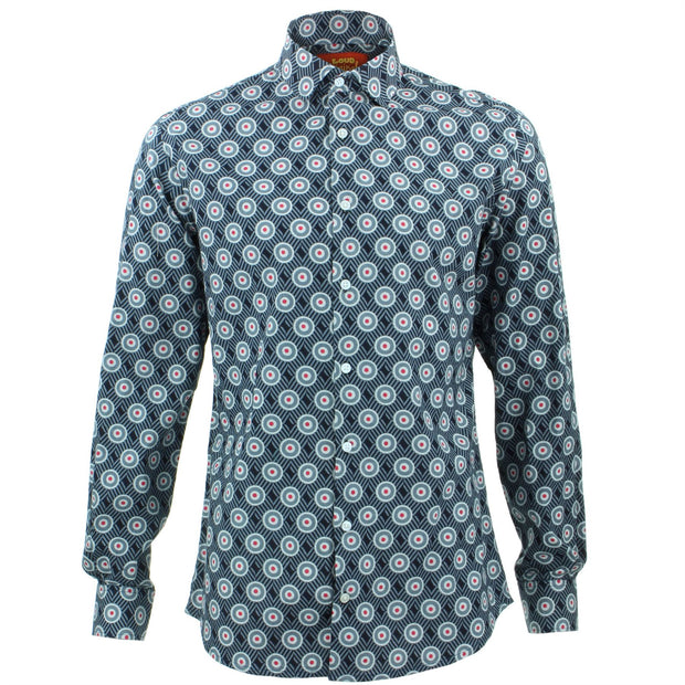 Tailored Fit Long Sleeve Shirt - Bullseye Grid