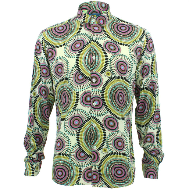 Slim Fit Long Sleeve Shirt - Spirals