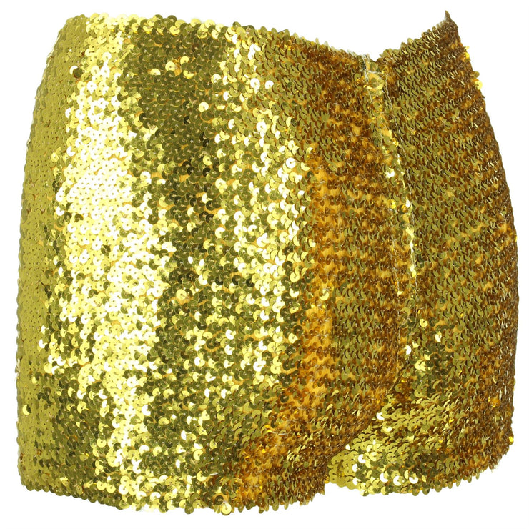 Sequin Shorts - Gold