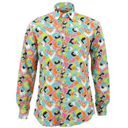 Tailored Fit Long Sleeve Shirt - Pixel
