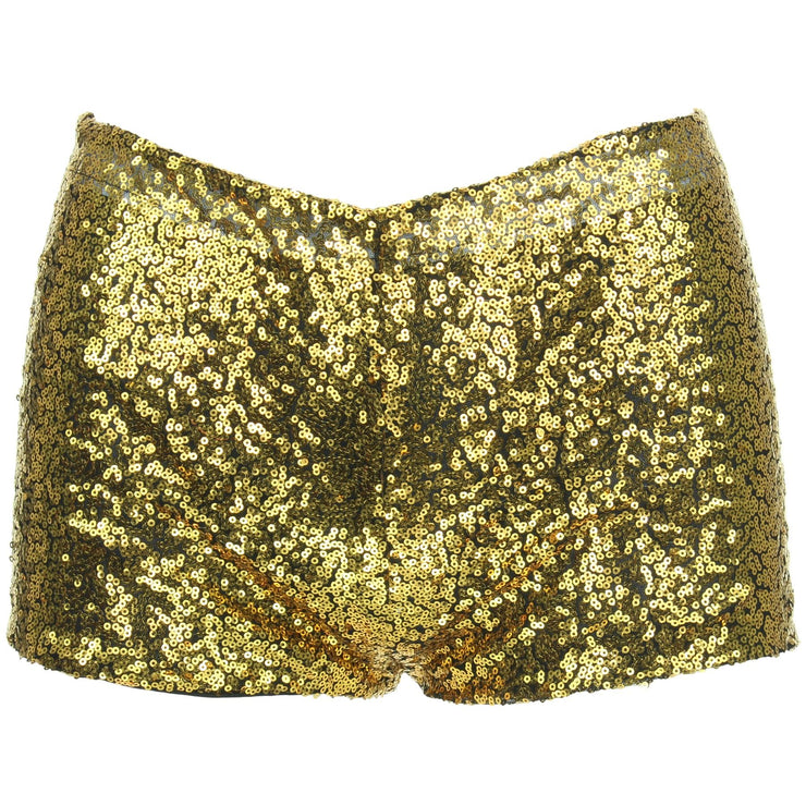 Sequin Hot Pants - Gold