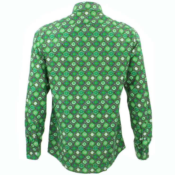 Tailored Fit Long Sleeve Shirt - Fleur Crest