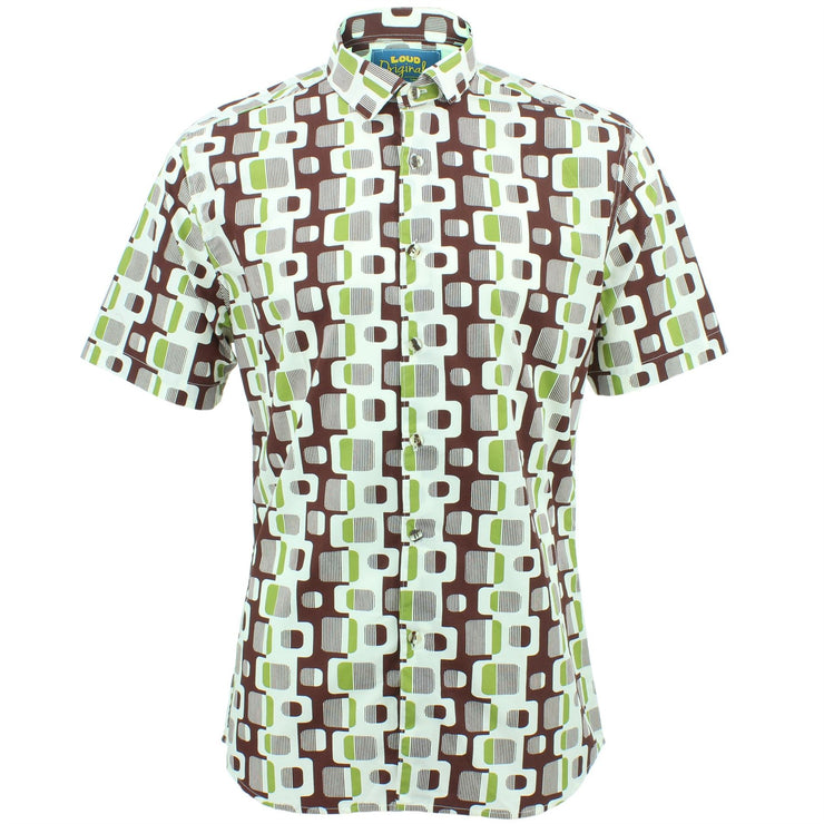 Slim Fit Short Sleeve Shirt - Retro Chain