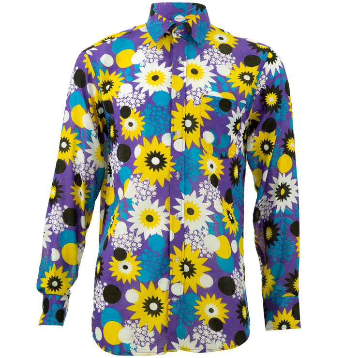 Regular Fit Long Sleeve Shirt - Bold Floral