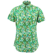 Tailored Fit Short Sleeve Shirt - Bamboo Leaves