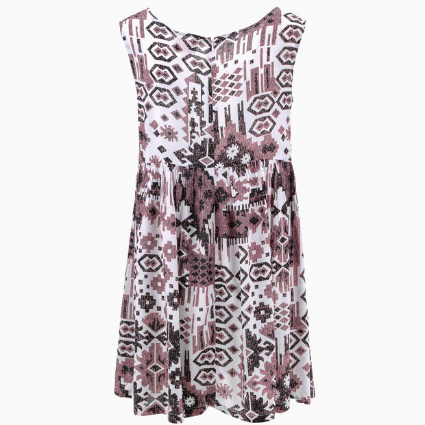 The Shroom Dress - Brown Aztec