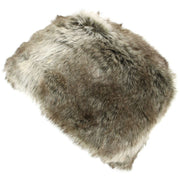 Ladies 2-Tone Brown Faux Fur Pill Box Hat