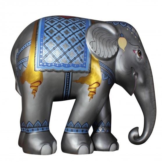 Limited Edition Replica Elephant - Royal Elephant Silver (20cm)
