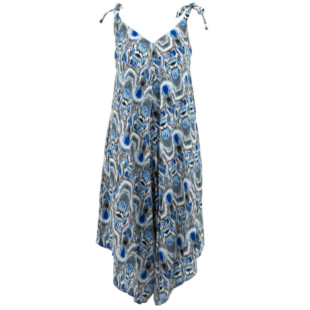 Strappy Jumpsuit - Ikat New Blue