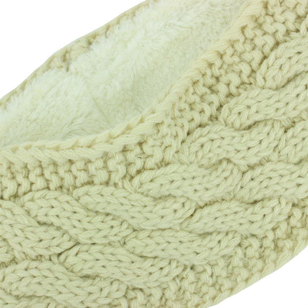 Knitted Ribbed Headband - Cream