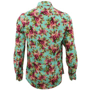 Tailored Fit Long Sleeve Shirt - Roses